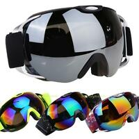 Unisex Double Lens UV400 Goggles Anti-fog Spherical Ski Snowboard Skiing Glasses