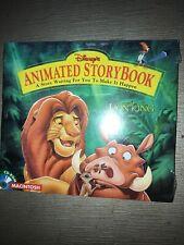Disney Animated Storybook The Lion King Cd-Rom Macintosh.