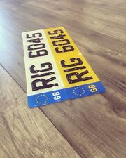 3D Gel Number Plates / Show Plates / Tinted Plates / Small Plates/ Domed Plates