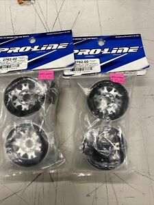 "Pro-Line 2762-00 Pro-Forge Impluse 1.9"" Aluminum Beadlock Wheels W/ Hex Adapters"