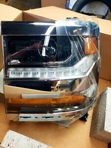 2016-2019  Chevy Silverado  OEM LED Left/Driver Headlight 84388723 HID CHROME!
