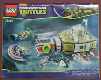 CLEARANCE INSTRUCTIONS ONLY - Lego 79121 Ninja Turtles Sub