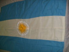 """ARGENTINA ARGENTINE FLAG  NEW   4' 2"""" x 2' 10""""   BEAUTIFUL FREE SHIPPING!"""