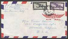 Indo China Vietnam To USA Airmail Cover 1951 w 2 Stamps L@@K