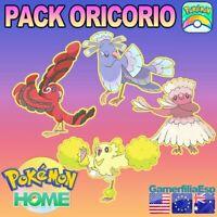 PACK ORICORIO 4 FORMAS FORMS ✅LEGALES GENUINOS POKEMON HOME PREMIUM TODAS FORMAS