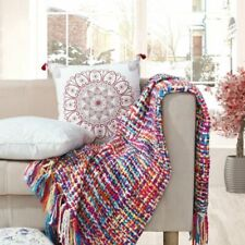 Portable Winter Blanket Warm Bed Sofa Sheets Cover Crochet Blankets Comfortable