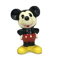 "Vtg Walt Disney Productions Mickey Mouse Ceramic Figurine Hand Painted 3"" Korea"