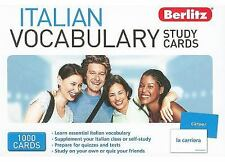 BERLITZ  ITALIAN VOCABULARY STUDY CARDS NEW 1000 CARDS