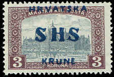 Scott # 2L21 - 1918 - ' Parliament Building At Budapest ', #124 Ovpt in Blue