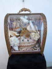 Globe de mariée d'époque Napoléon III Vitrine de mariage 19ème