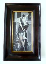 Seltenes Bild mit Seidenstickerei um 1880 Romeo & Julia B-14250
