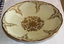 Rosenthal Sanssouci Pompadur Schale Elfenbein m. Gold a. kleinem Fuß Dm 34,5 cm