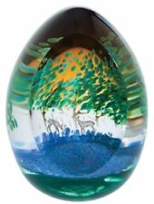 Caithness Glass deer paperweight Spring Bluebells, Limited Edition of 150