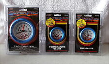 Super Pro Tachometer, Electric Water Temperature and Amp Gauge Gauge Set Blue