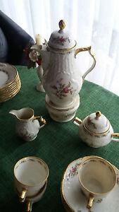 Rosenthal Moosrose Sanssouci Goldrand Kaffeeservice 9 Personen