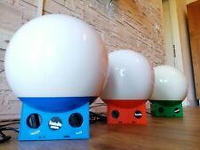 Introvabile serie completa 3 Proiettori tondo polistil space age design Italy 69