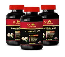 Immune Support - Coconut Oil 3000mg - Full Fast Appetite Control - 3B