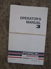 1991 Force Outboard Motor 3 HP Owner Operator Manual MORE BOAT ITEMS IN STORE  S