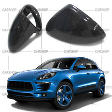 For Porsche Macan 15-20 Real Carbon Fiber Car Door Side Mirror Cover Cap Replace