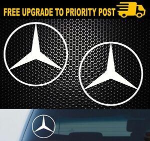 Mercedes Benz Logo Vinyl Decal Sticker Window Quality 4x4 Car Truck x2
