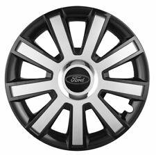 "15"" Wheel trims fit Ford Focus Fiesta 4 x15 inches black silver gloss"