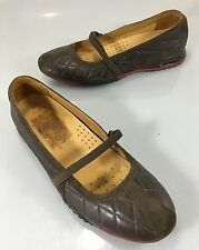 Cole Haan Womens 7 B Bria Brown Quilted Leather Mary Janes Shoes Nike Air Soles