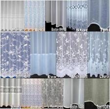 CHEAP LUXURY VOILE NET CURTAINS SLOT TOP ~ PLAIN & FLORAL  special Drop Sizes