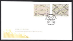 CYPRUS 2011 CYPRUS LACE  EMBROIDERY SET NICE OFFICIAL FDC LEFKARA LACES WEAVING