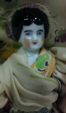 """China - Bisque molded hair antique german doll 7"""" h"""