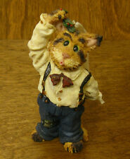 Boyds Purrstone resin Ornament #271801 Fletcher Puckerup.Holiday Kisses, 1st E