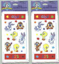 2 NEW packs BABY LOONEY Tunes Scrapbook Stickers! 8 Sheets!
