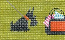 *NEW* LEE Scottie Dog handpainted Needlepoint Canvas ~ BD Insert ~ 18 mesh