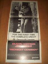 Midnight Cowboy movie poster original Australian day bill Hoffman Voight