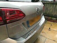 2013Up VW Golf Mk7 VII Hb Cromo Paraurti Posteriore Protezione Zero ACCIAIO INOX