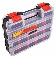 12 plateaux Professionnel Organisateur Boîte à outils vis clou Boîtier de Rangement//Boîte étui de transport