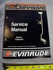Johnson Evinrude Boat 'CC' Electric Trolling Motor Repair Service Manual, 507658