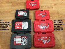 Craftsman 14 Or 38 Socket Set Amp Ratchet Sae Or Metric 6 Pt Sets Your Choice