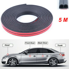 5M Car Door Edge Soundproof Anti-dust Trim Rubber Seal Strip Universal Stickers