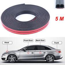 5M Car Door Edge Trim Rubber Seal Strip Soundproof Anti-dust Universal Stickers