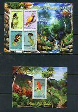 V652  Papua New Guinea 2008   Birds of Paradise    sheets   MNH