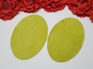 Elbow Patches -- Lime Color -- Set of 2 -- Iron On