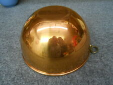 "Solid Copper Bowl With Brass Ring 8 1/2"" Diameter"