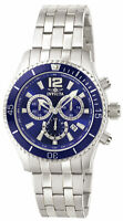 Invicta Men's Watch Specialty Chronograph Blue Dial SS Bracelet Quartz 0620