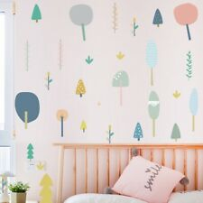 Cartoon Trees Ins Wall Sticker DIY Kids Room Decals Removable Home Office Decors
