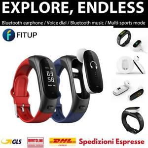 FITUP EARBAND V08S BLACK NERO ANDROID IOS XIAOMI SAMSUNG HUAWEI APPLE