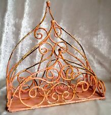 Vintage Napkin Letter Rack Metal Shabby Chic Post Paper Office Storage Holder