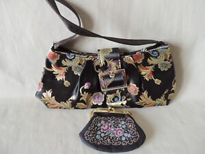 Ladies Old Chinese Style Polyester Bag with Purse 27cm