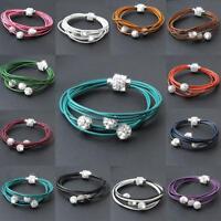 Premium Clay Crystal Shamballa Style Disco Friendship Balls Czech Bracelet 8mm