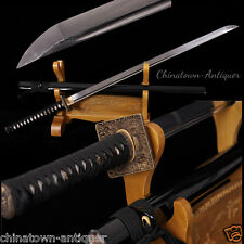 Chokutō Straight Sword Tachi Sabre Samurai Sword Folded pattern Steel Sharp#2384