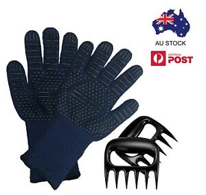 BBQ Gloves with FREE Bonus Meat Claws 800C Heat Resistant Grill Gloves